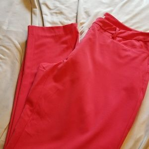 Coral color ankle dress pants